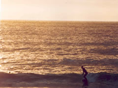 Sunset_surfing_at_Porthtowan